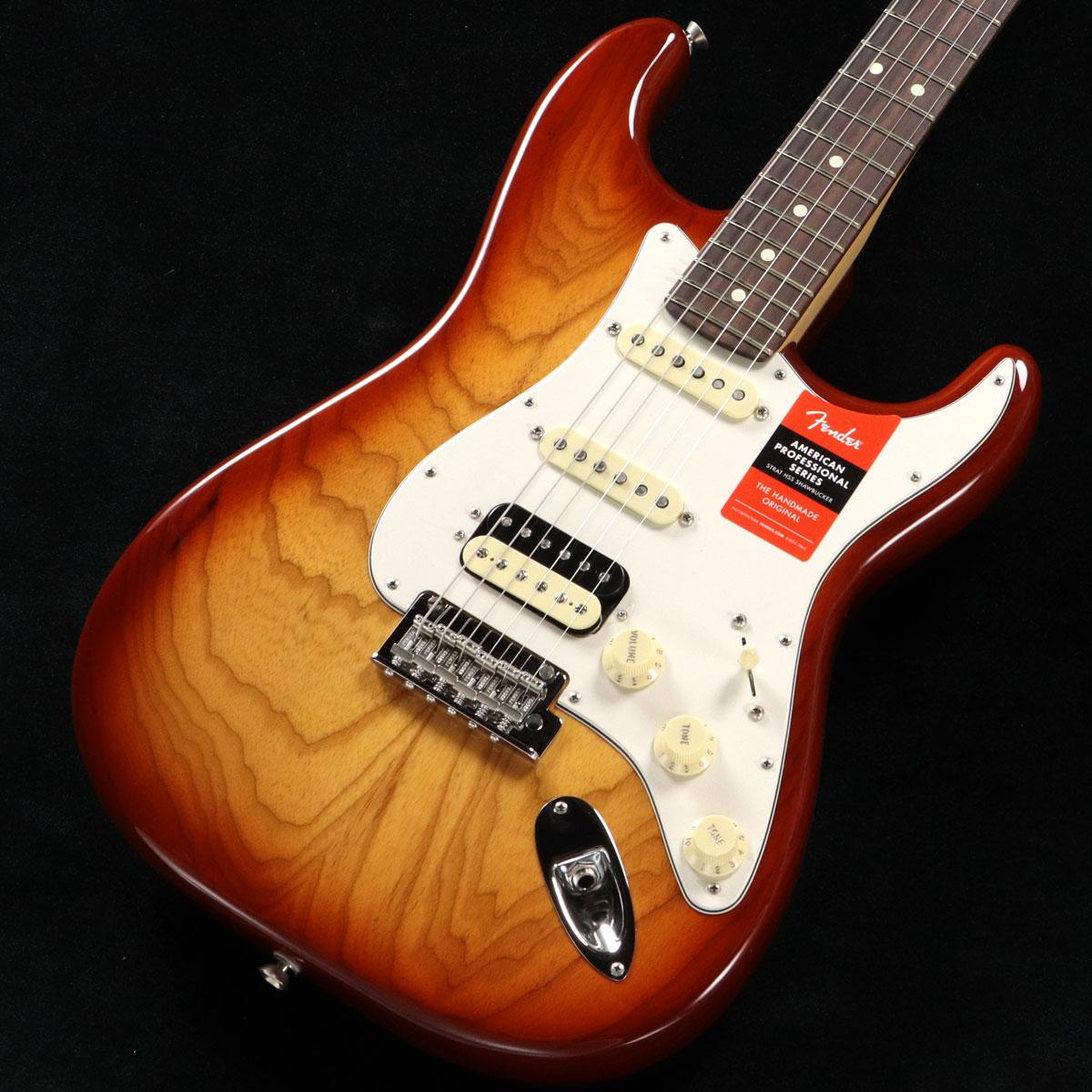 Fender USA / American Pro Stratocaster Ash HSS Shawbucker Sienna Sunburst Rosewood【渋谷店】