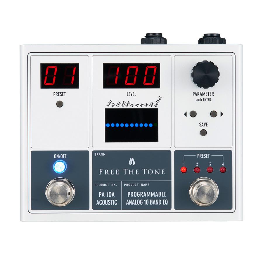 Free The Tone / PA-1QA PROGRAMMABLE ANALOG 10 BAND EQ [アコースティック用イコライザー]【渋谷店】
