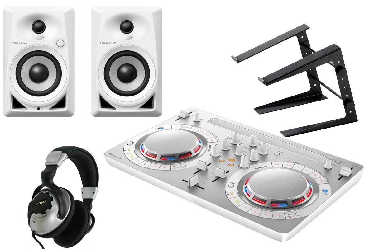 Pioneer DJ パイオニア / DDJ-WEGO4-W ホワイト 【Pioneerモニターセット!】 DJコントローラー【渋谷店】