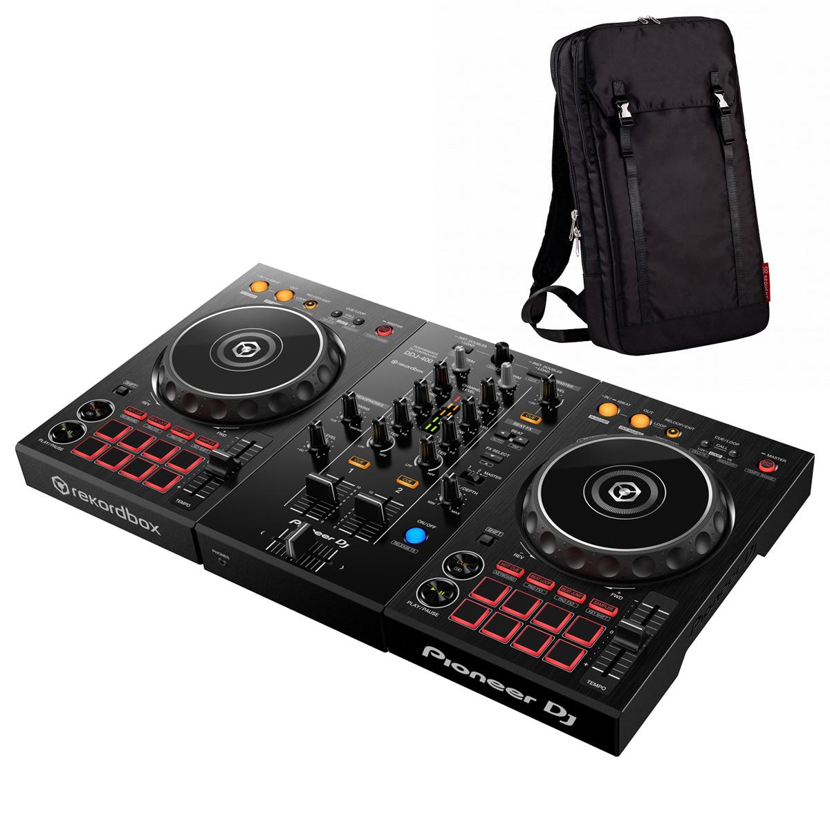 Pioneer DJ / DDJ-400 +MP-TB1-BK バックパックセット (ブラック)【お取り寄せ商品】【渋谷店】