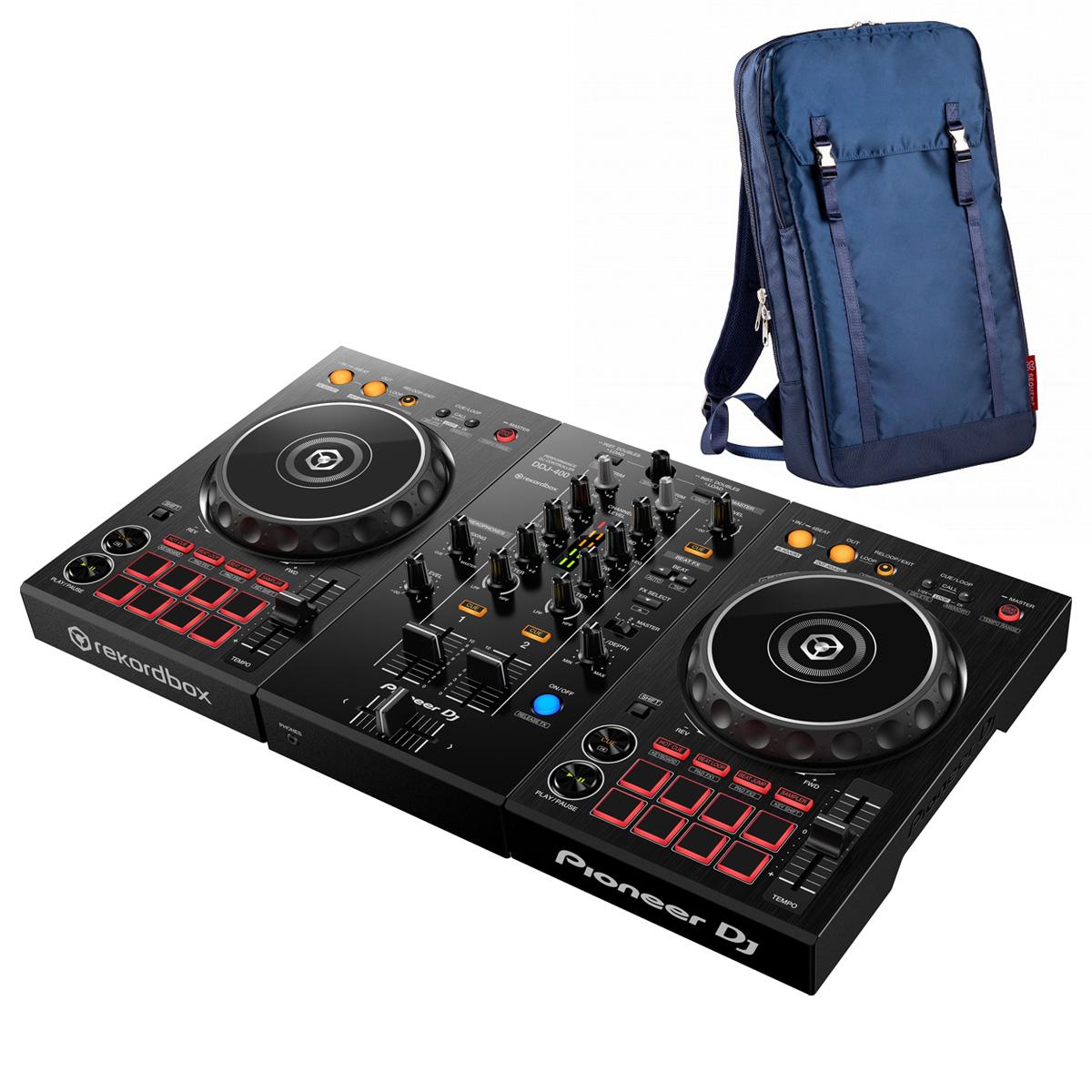 Pioneer DJ / DDJ-400 +MP-TB1-NV バックパックセット (ネイビー)【お取り寄せ商品】【渋谷店】