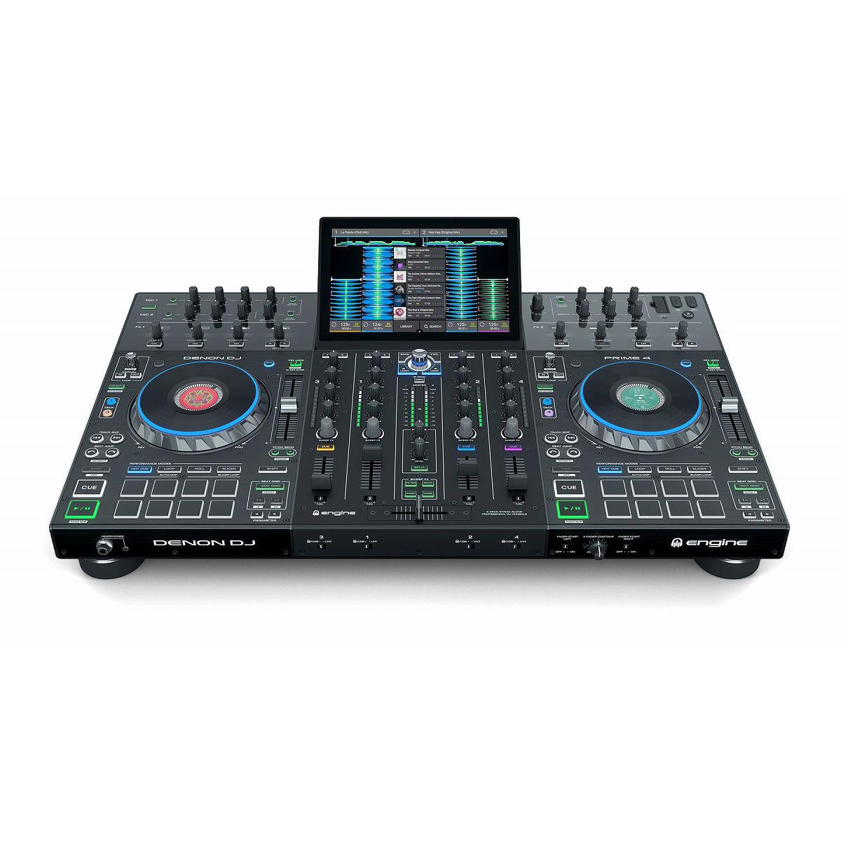 Denon DJ / Prime 4 4チャンネルスタンドアローンDJシステム【SCRATCH音ネタ入りUSBメモリーサービス!】【お取り寄せ商品】【渋谷店】
