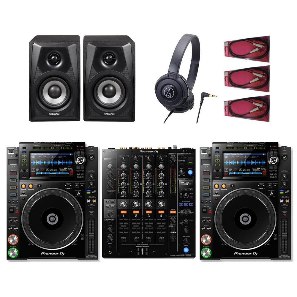 Pioneer DJ / CDJ-2000NX2×DJM-750MK2 DJ SET【豪華4大特典付き!】【お取り寄せ商品】【渋谷店】