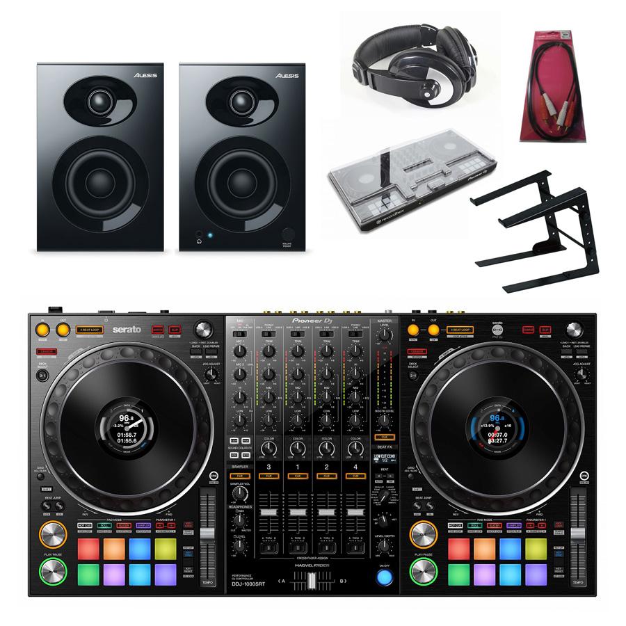 Pioneer DJ / DDJ-1000SRT REKORDBOX DJ専用コントローラー モニターセット 【SCRATCH音ネタ入りUSBメモリーサービス!】【予約注文/納期6月下旬以降】【お取り寄せ商品】【渋谷店】