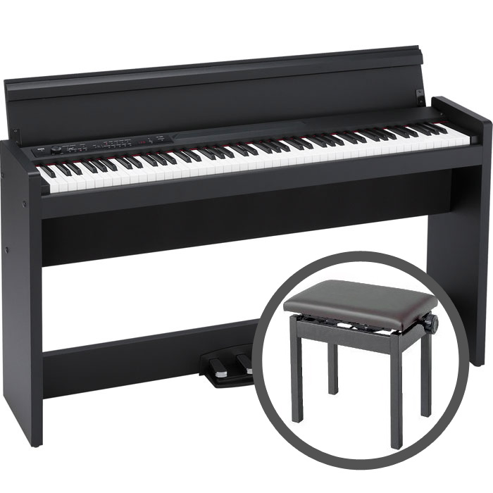 KORG LP-380 BK 【高低自在椅子セット!】 コルグ 電子ピアノ ブラック (LP380) 【代引き不可】 【御茶ノ水本店】【smtg0401】