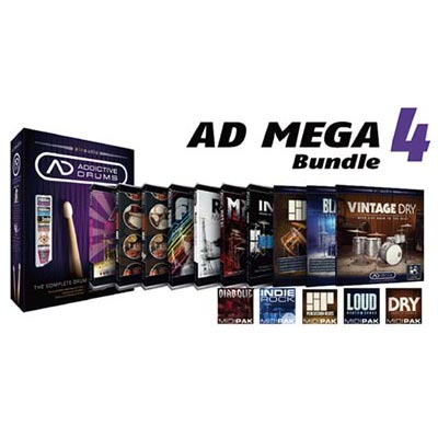 XLN Audio エックスエルエヌオーディオ / AD Mega Bundle 4 メガバンドル ドラム音源 【御茶ノ水本店】