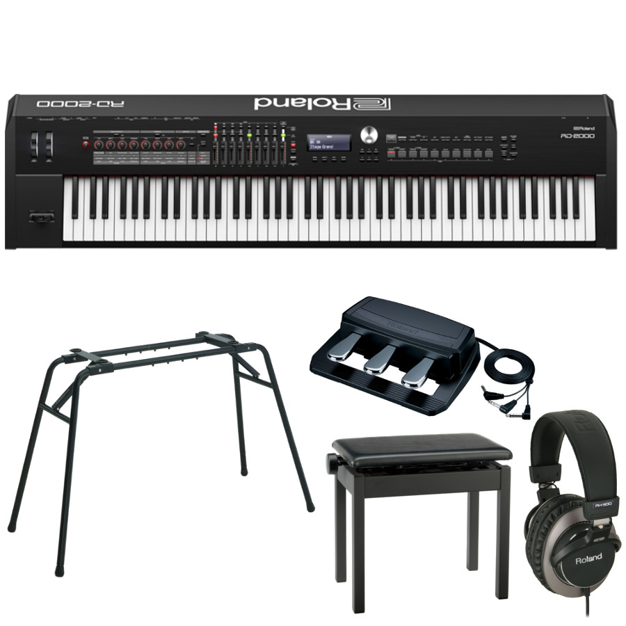 ROLAND ステージピアノ / RD-2000 【純正スタンド・3本ペダル・ヘッドフォン・椅子セット】≪お取り寄せ商品≫【名古屋栄店】