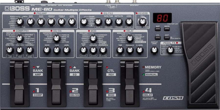 【新品】BOSS (ボス) / ME-80 Guitar Multiple Effects 【マルチエフェクター】【名古屋栄店】