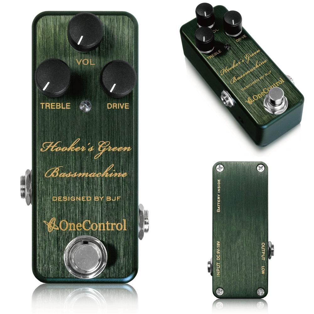 One Control / Hooker's Green Bass Machine 【ワンコントロール】【ベースオーバードライブ】【新宿店】