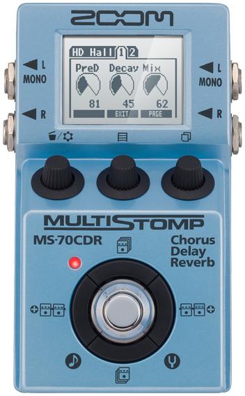 ZOOM / Multi Stomp MS-70CDR Chorus / Delay / Reverb 【エフェクター】【ズーム】【マルチストンプ】【MS70CDR】【コーラス/ディレイ/リバーブ(リヴァーブ)】【新宿店】