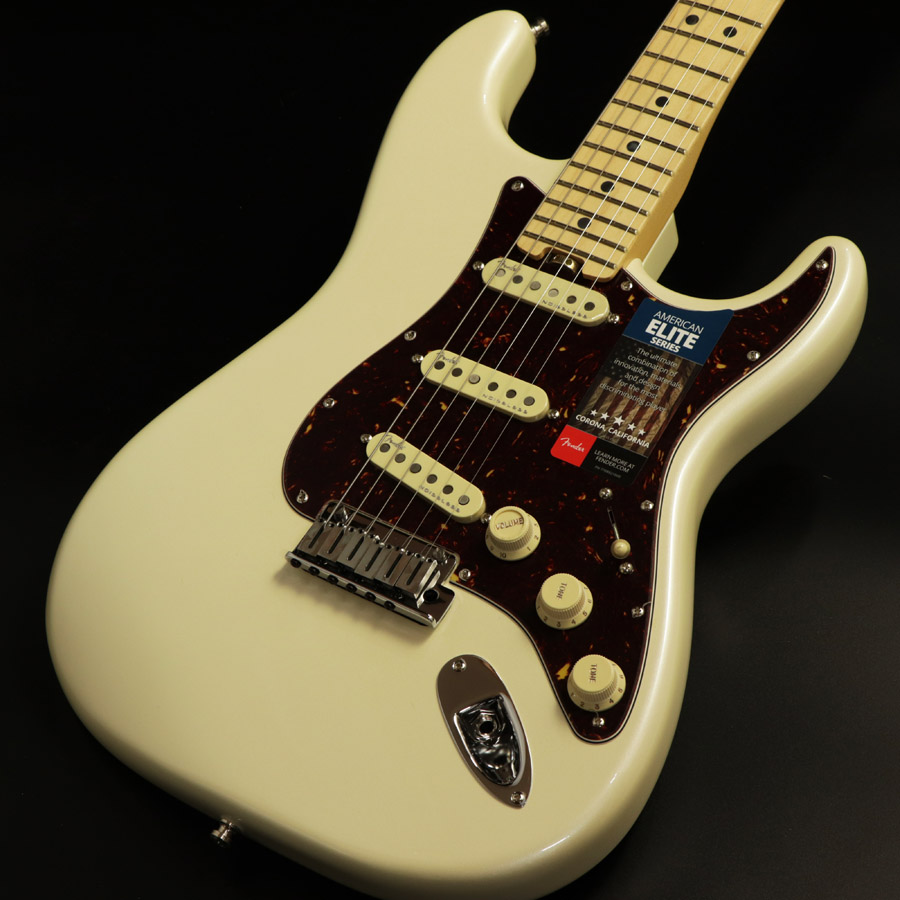 Fender フェンダー / American Elite Stratocaster Olympic Pearl / Maple Fingerboard 《s/n:US17027158》 【心斎橋店】