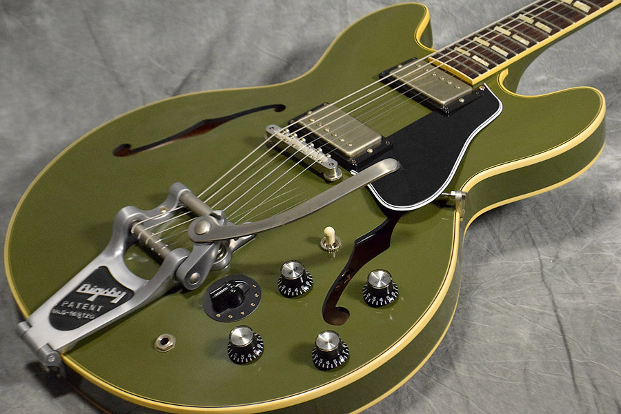 Gibson Memphis / Historic Series 1964 ES-345TD Bigsby Mono Varitone VOS Olive Drab Green 【梅田店】