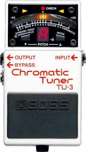 BOSS Chromatic Tuner TU-3 買物 クロマチックチューナー ボス 新作入荷 チューニングメーター 横浜店