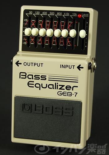 BOSS / GEB-7 Bass Equalizer ボス ベースイコライザー【YRK】《9Vマンガン電池2個プレゼント!/+681215700×2》