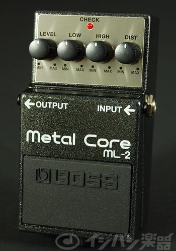 BOSS / ML-2 Metal Core ボス ディストーション【YRK】《9Vマンガン電池2個プレゼント!/+681215700×2》