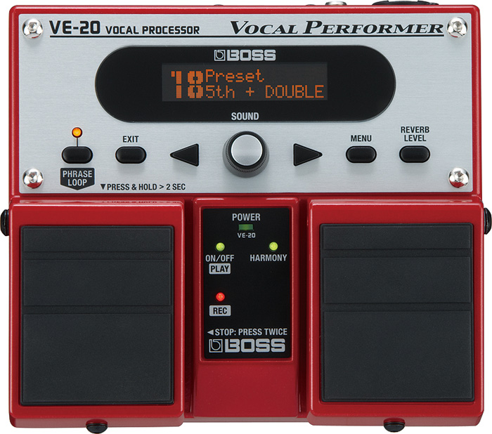 【在庫有り】 BOSS / VE-20 VOCAL PROCESSOR 《9Vマンガン電池2個プレゼント!/+681215700×2》 ボス ボーカルプロセッサー ボーカル用エフェクター VE20 【YRK】