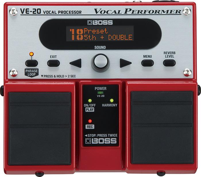 BOSS / VE-20 VOCAL PROCESSOR ボス ボーカルプロセッサー ボーカル用エフェクター 【お取り寄せ商品】【YRK】《9Vマンガン電池2個プレゼント!/+681215700×2》