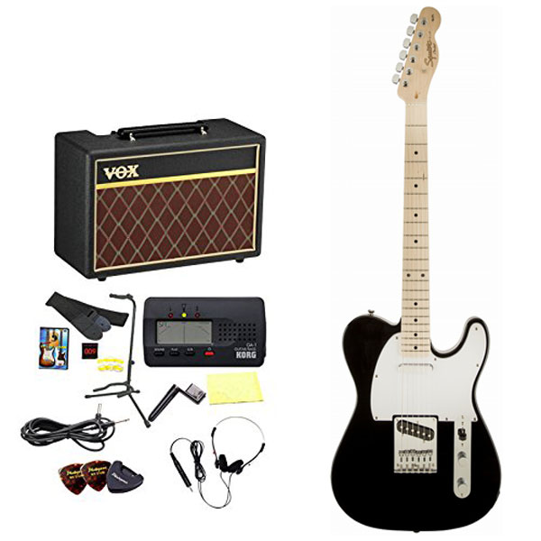 Squier by Fender / エレキギター入門セット Affinity Telecaster Black Maple 【VOXアンプ&小物セット】 入門 初心者