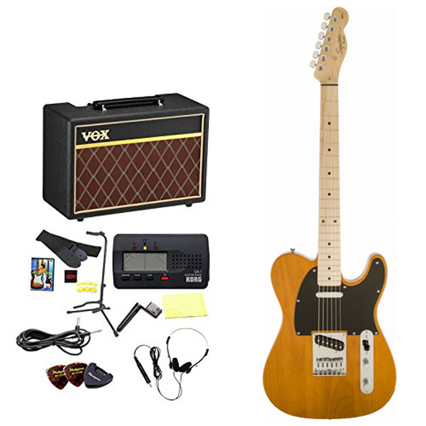 Squier by Fender / エレキギター入門セット Affinity Telecaster Butterscotch Blonde Maple 【VOXアンプ&小物セット】 入門 初心者