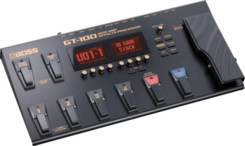 BOSS / GT-100 COSM Amp Effects Processor マルチ エフェクター《BOSSロゴ入りソフトケース付き/+811111800》 【YRK】