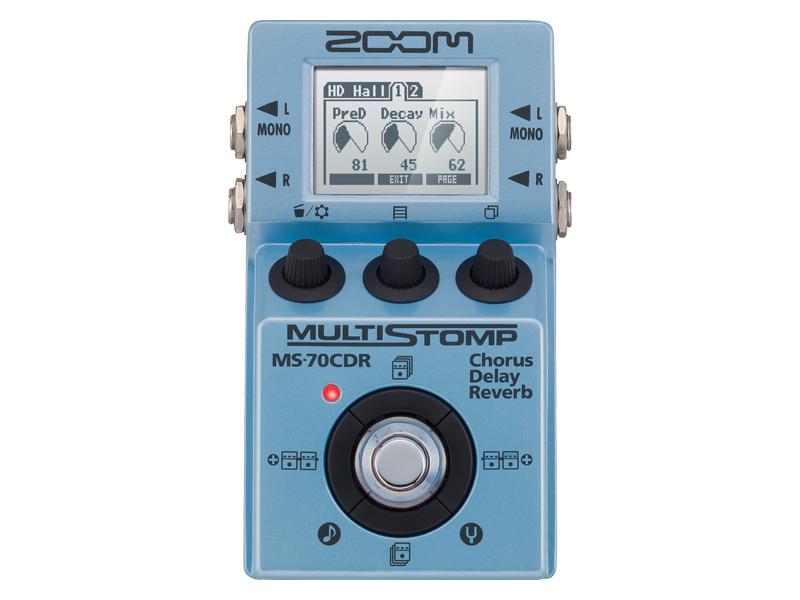 ZOOM / MULTI STOMP MS-70CDR Chorus/Delay/Reverb 【コーラス/ディレイ/リバーブなど86種類の空間系エフェクトを網羅するマルチストンプ!】