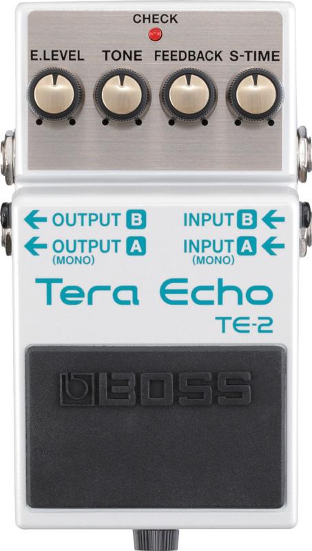 BOSS / TE-2 Tera Echo 【BOSSの最新技術を集約させた、新たなる空間系エフェクター!】【YRK】《9Vマンガン電池2個プレゼント!/+681215700×2》