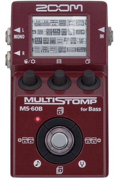 ZOOM ズーム / MS-60B Multi Stomp for Bass 【コンパクトペダルサイズのベース用マルチエフェクター!】