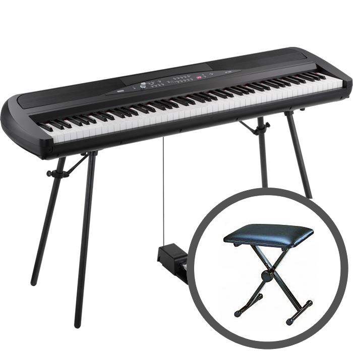 KORG コルグ / SP-280 BK ブラック 【椅子セット!】電子ピアノ【PNG】