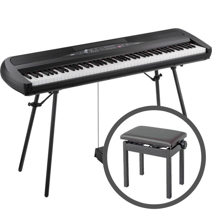 KORG コルグ / SP-280 BK ブラック 【高低自在椅子セット!】電子ピアノ【YRK】