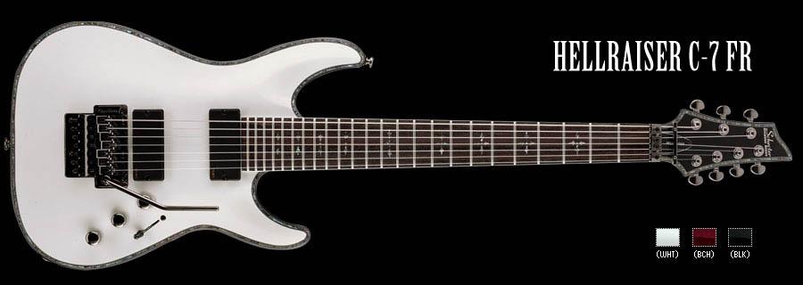 Schecter / HELLRAISER C-7 FR Gross White シェクター 7弦ギター 【お取り寄せ商品】