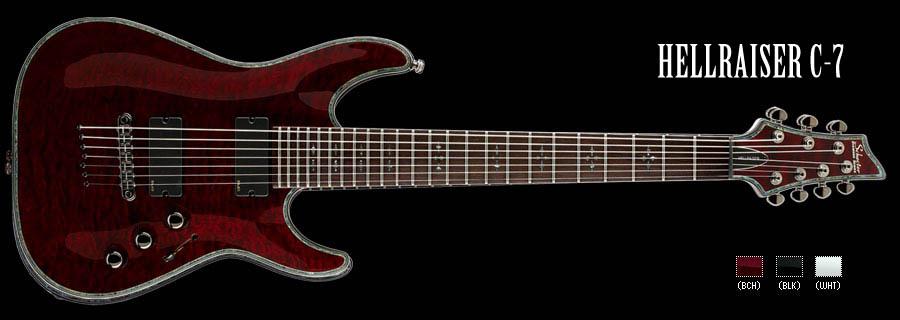 Schecter / HELLRAISER C-7 Black Cherry シェクター 7弦ギター 【お取り寄せ商品】