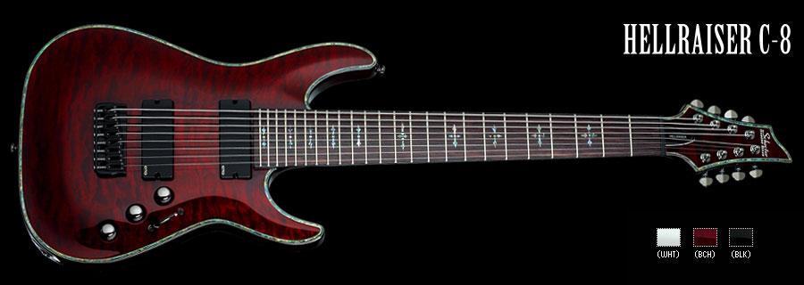 Schecter / HELLRAISER C-8 Black Cherry シェクター 8弦ギター 【お取り寄せ商品】