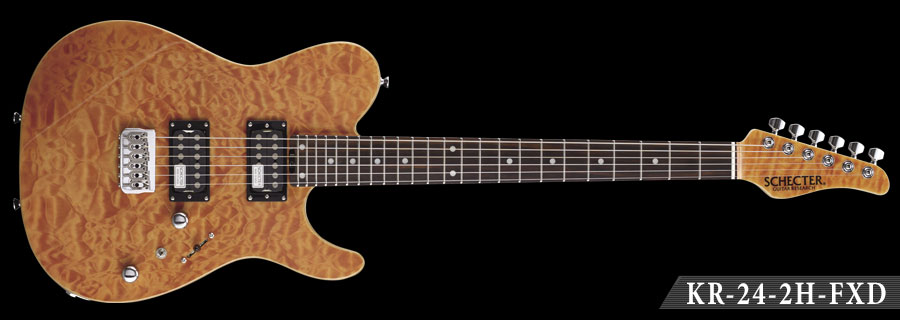 Schecter / KR-24-2H-FXD-R Amber シェクター エレキギター 【お取り寄せ商品】