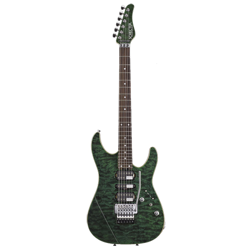Schecter / NV-3-24-AL-R See Thru Green シェクター エレキギター 【お取り寄せ商品】