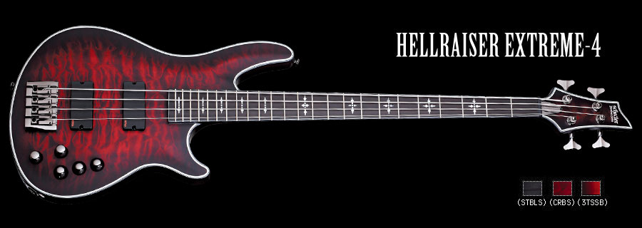 Schecter / HELLRAISER EXTREME 4 Crimson Red Burst シェクター エレキベース 【お取り寄せ商品】