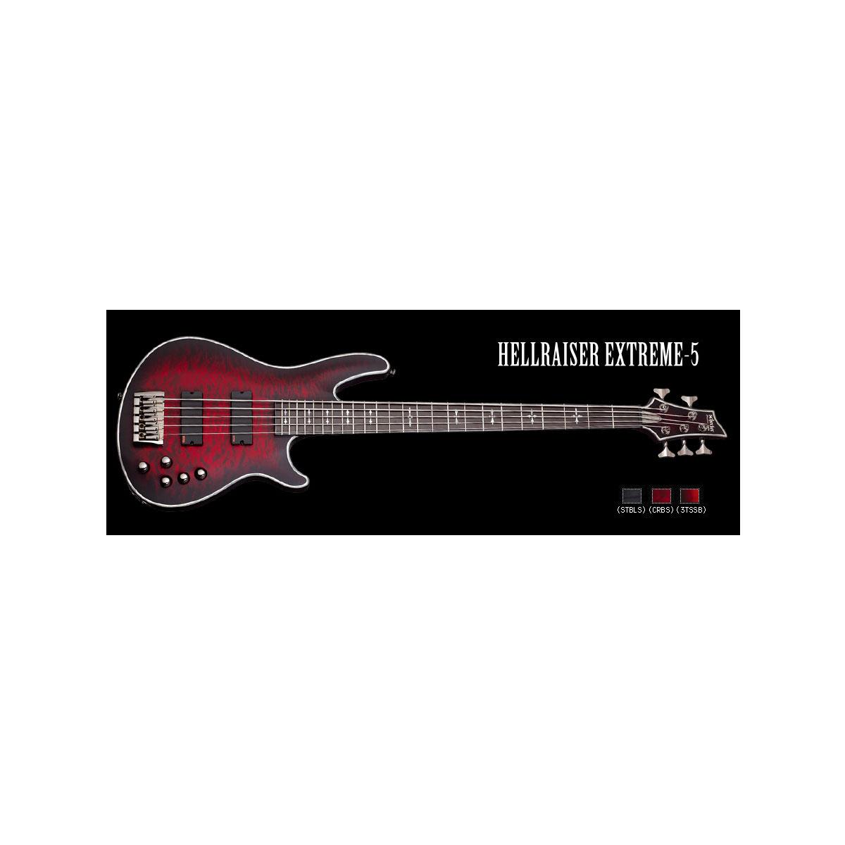 Schecter / HELLRAISER EXTREME 5 Crimson Red Burst シェクター 5弦ベース 【お取り寄せ商品】