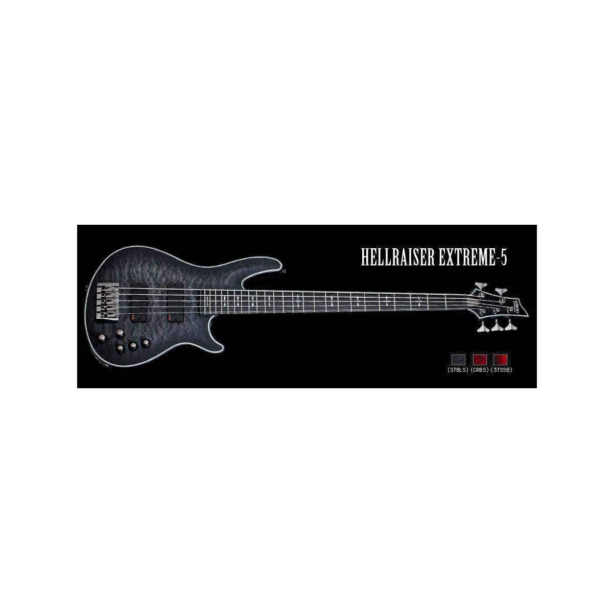 Schecter / HELLRAISER EXTREME 5 See Thru Black Satin シェクター 5弦ベース 【お取り寄せ商品】