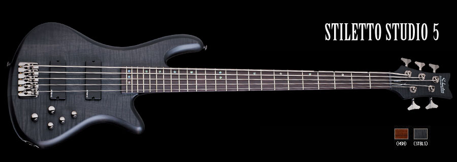 Schecter / STILETTO STUDIO 5 See Thru Black Satin シェクター 5弦ベース 【お取り寄せ商品】