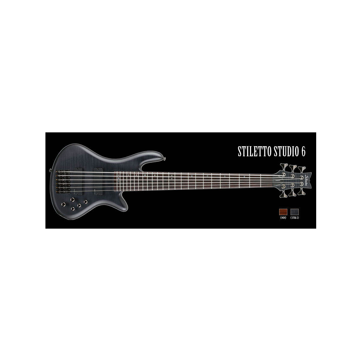 Schecter / STILETTO STUDIO 6 See Thru Black Satin シェクター 6弦ベース 【お取り寄せ商品】