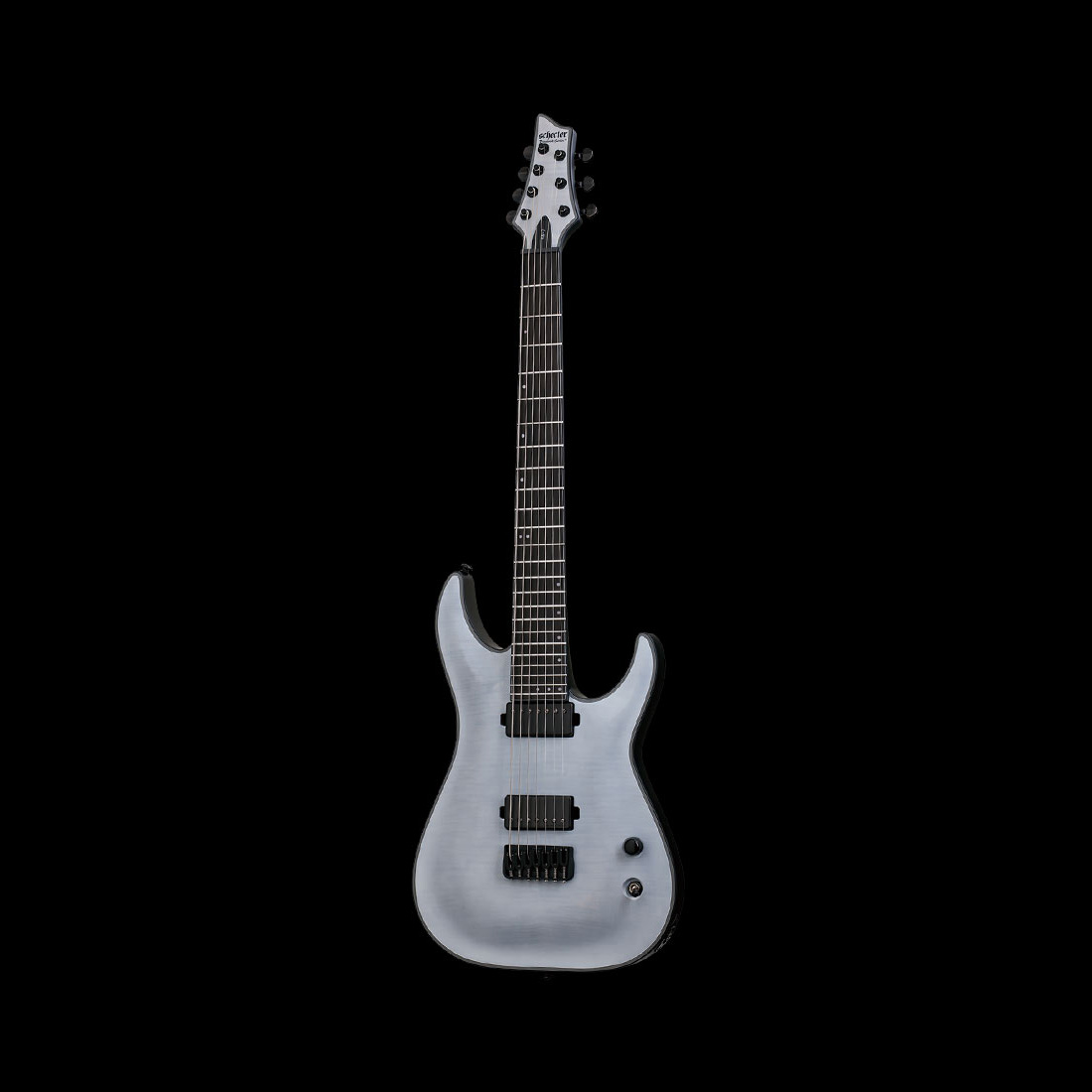 Schecter / Keith Mellow KM-7 Trans White Satin シェクター 7弦ギター Keith Merrowシグネイチャー 【お取り寄せ商品】