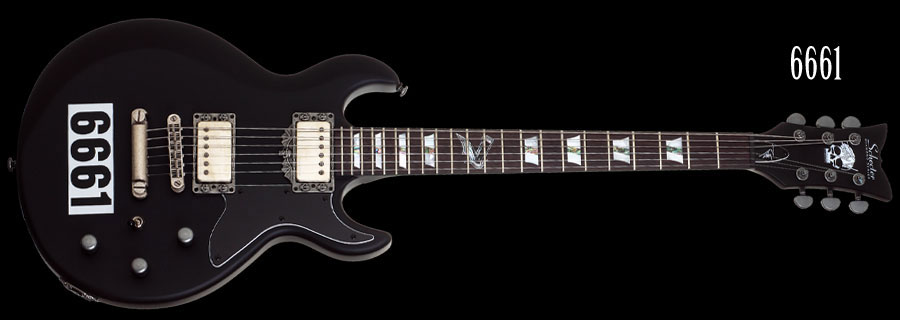 Schecter / ZV 6661 Satin Black with 6661 Graphic シェクター エレキギター Zacky Vengeanceシグネイチャー 【お取り寄せ商品】
