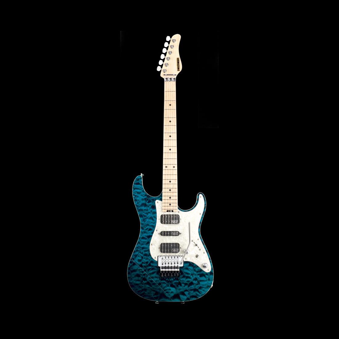 Schecter / EX-V-22-CTM-FRT Maple 4A Black Aqua シェクター エレキギター 《受注生産:予約受付中》