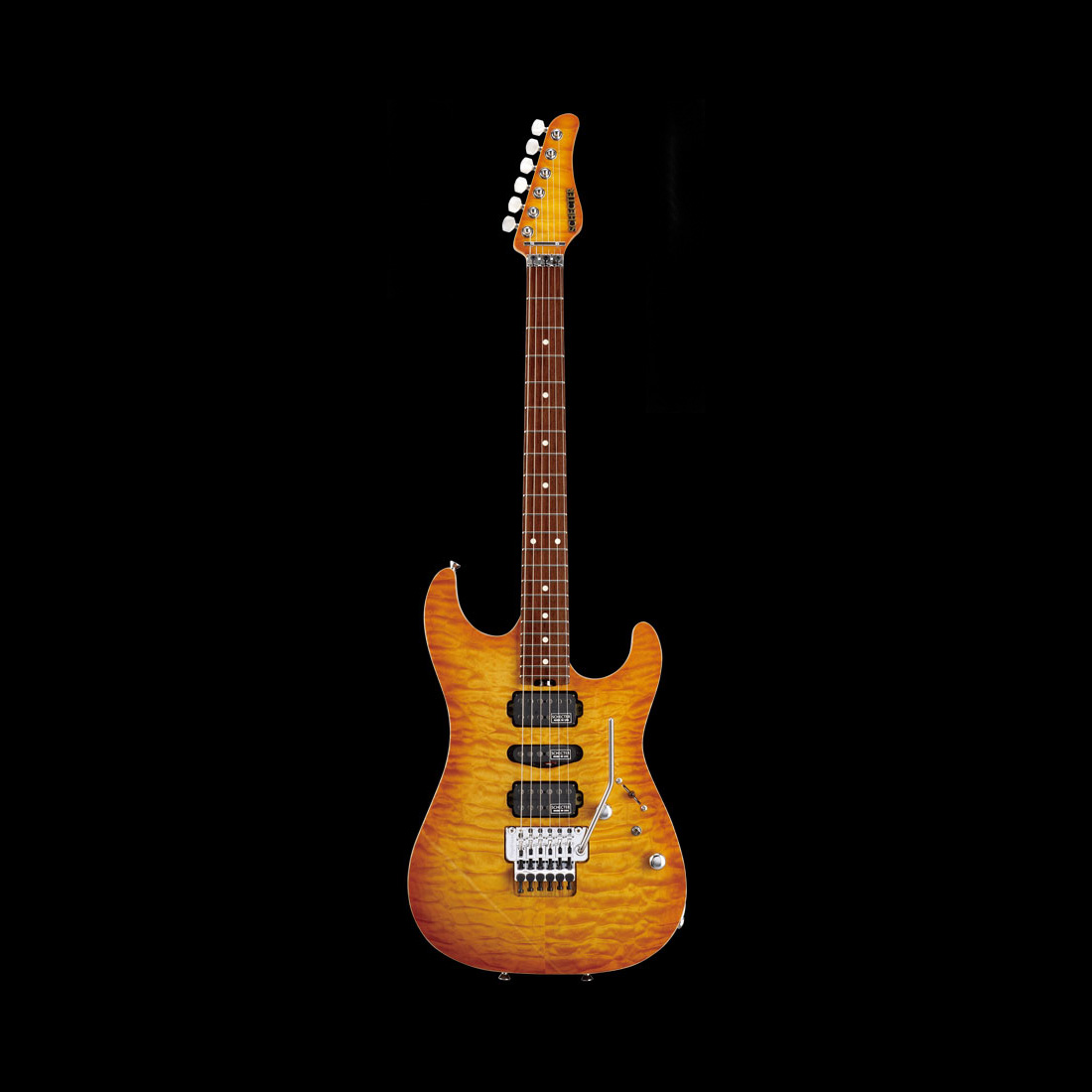 Schecter / EX-V-22-CTM-FRT R/NPG 4A Lemon Drop Sunburst シェクター エレキギター 《受注生産:予約受付中》