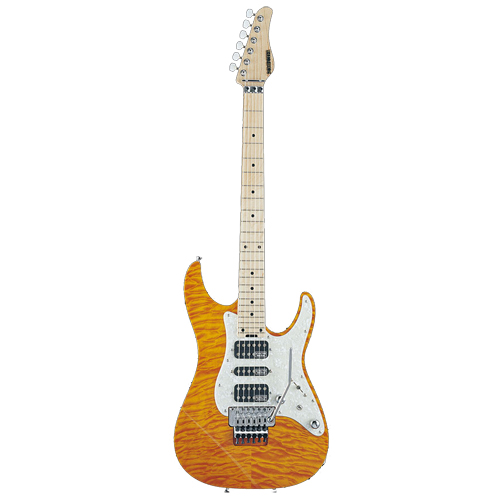 Schecter / EX-V-24-CTM-FRT M 4A Amber シェクター エレキギター 《受注生産:予約受付中》