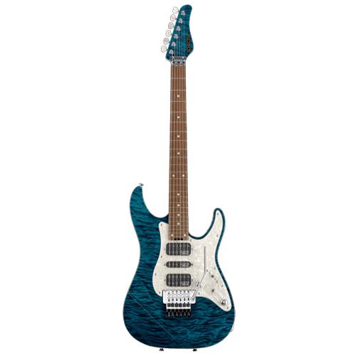 Schecter / EX-V-24-CTM-FRT Rosewood 4A Black Aqua シェクター エレキギター 《受注生産:予約受付中》