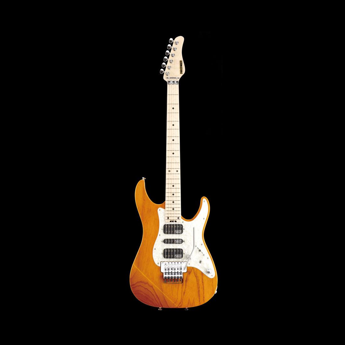 Schecter / EX-V-24-STD-FRT Maple Amber シェクター エレキギター 《受注生産:予約受付中》
