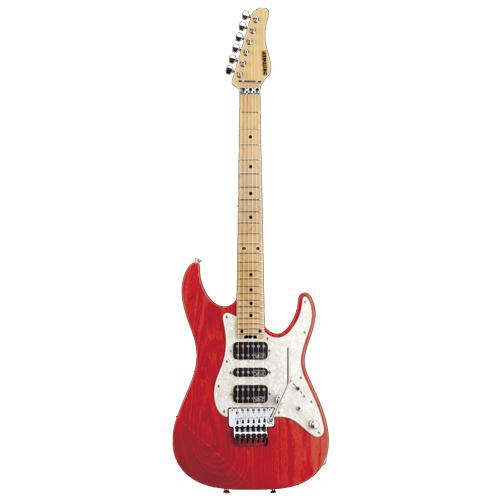 Schecter / EX-V-24-STD-FRT Maple See Thru Red シェクター エレキギター 《受注生産:予約受付中》