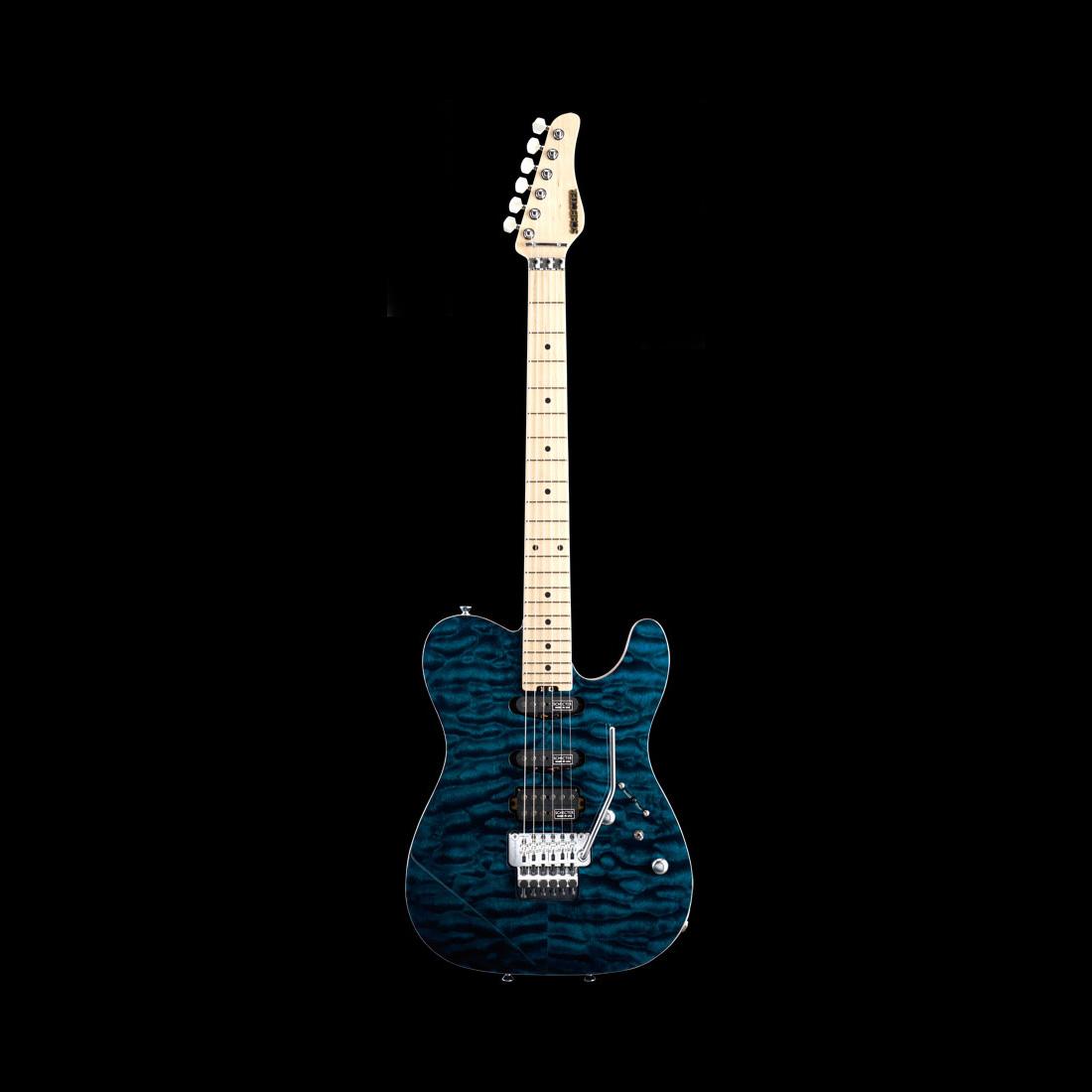 Schecter / PT-IV-CTM-FRT M Black Aqua シェクター エレキギター 《受注生産:予約受付中》