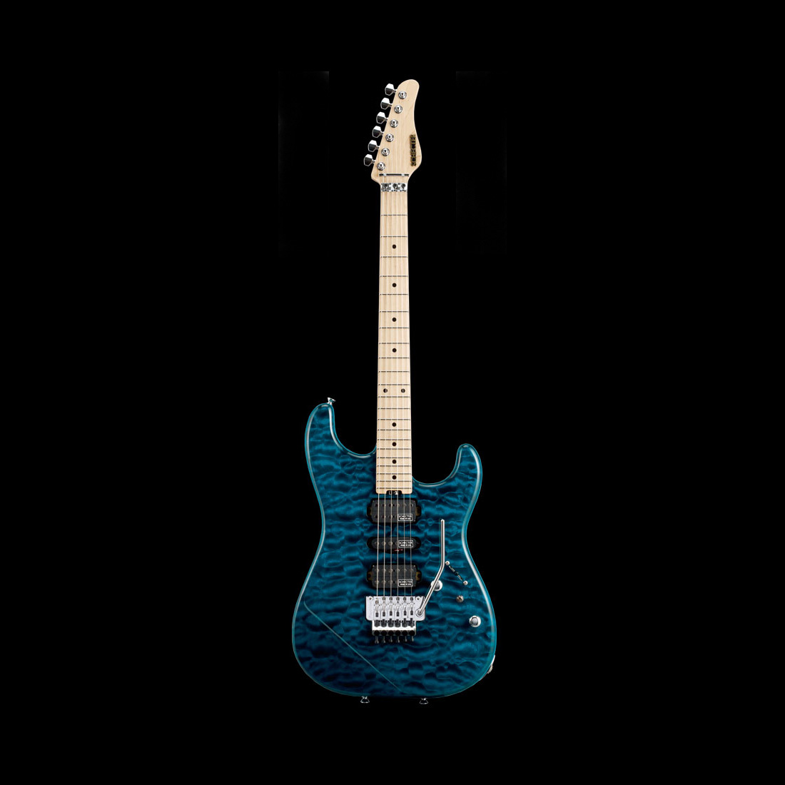 Schecter / ST-V-CTM-FRT M/NPG Black Aqua シェクター エレキギター 《受注生産:予約受付中》