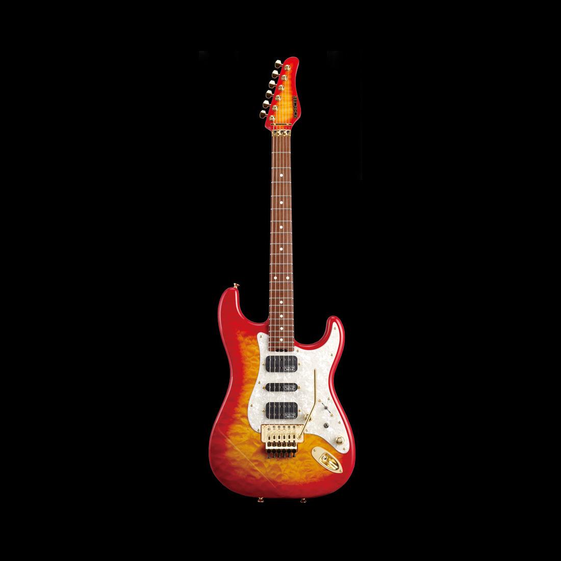 Schecter / ST-V-CTM-FRT 4A R Cherry Sunburst シェクター エレキギター 《受注生産:予約受付中》